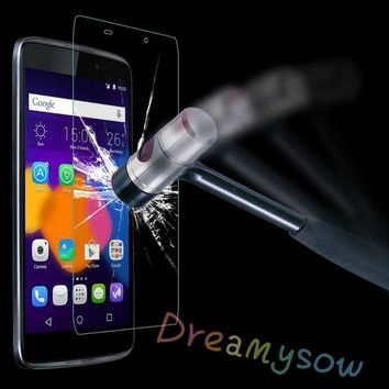 2.5D 9H Tempered Glass Screen Protector Film For Alcatel Idol3 Idol4 Pixi3 Pixi4 Idol Pixi Pop 3 4 Pop4 Plus Protective Glass