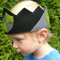 Ready to Ship - 100% Wool Dress up Crown or Play Crown for pretend play. Perfect for costumes, birthdays, Kings and Knights.  Boys Crown