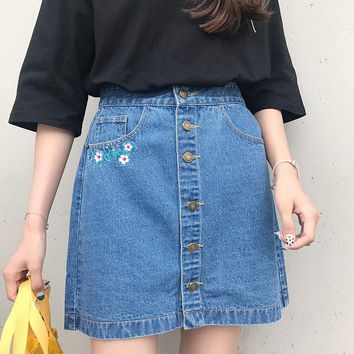 Wallflower Denim Skirt
