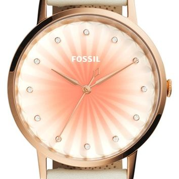 Fossil 'Vintage Muse' Leather Strap Watch, 40mm | Nordstrom