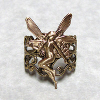 Fairy Nymph Ring Band by ranaway on Etsy