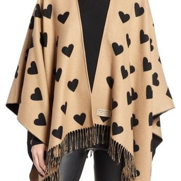 Burberry 'Collette' Heart Print Wool Scarf | Nordstrom