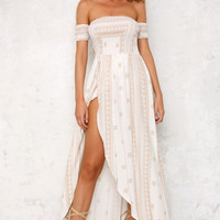 Inside Job Maxi Dress White