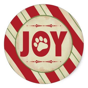 Holiday Sticker - Red and Green Stripes