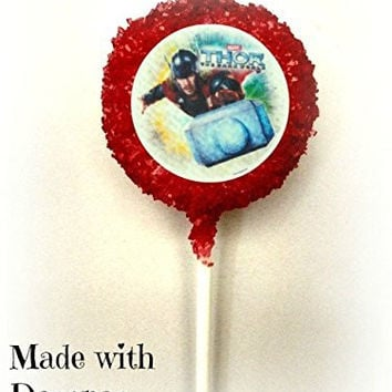 Thor The Avengers Superhero White Chocolate Covered Oreo Cookie Pops