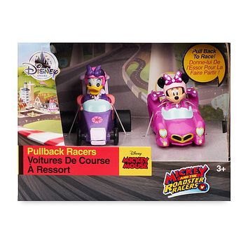 Disney Mickey Roadster Racers Pullback Racers Set Minnie Mouse Daisy Duck New