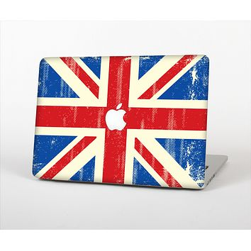 The Grunge Vintage Textured London England Flag Skin Set for the Apple MacBook Air 13""