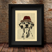 Dalmatian Dog Art Print, Dalmatian Dog print, Dog Dictionary Page Print, Poster wall Dog, Wall Art Print , Home Decor, Dog Poster -57