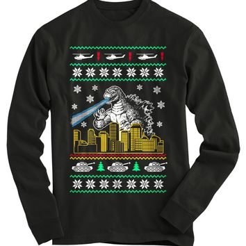 Godzilla Ugly Christmas Sweater-On Sale