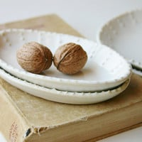Small Oval Dish - Custom Color Choice - One Dish - French Country Dinnerware - MADE TO ORDER