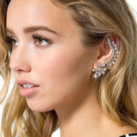 Fallen Angel Winged Rhinestone Ear Cuff