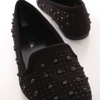 Black Faux Suede Spike Stud Detailed Loafer Flats @ Amiclubwear Flats Shoes online store:Women's Casual Flats,Sexy Flats,Black Flats,White Flats,Women's Casual Shoes,Summer Shoes,Discount Flats,Cheap Flats,Spring Shoes,Cute Flats Shoes,Women's Flats Shoes
