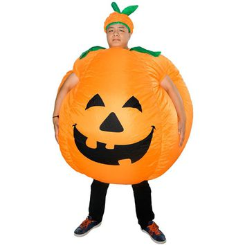 Kids Halloween Pumpkin Shape Inflatable Props Toy Halloween Party Prank Scenario Costume Prop Children Gags Toys Holiday Gift