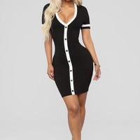 My Milkshake Mini Dress - Black/White