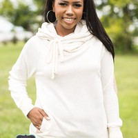 Oatmeal Cowl Neck Sweatshirt