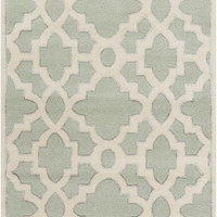 Candice Olson Design Modern Classics Hand Tufted Wool Rugs - Gray, Ivory, Sea Foam
