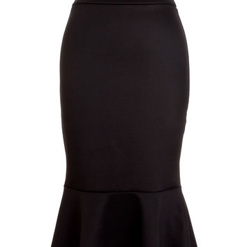 Dark Siren Mermaid Pencil Skirt