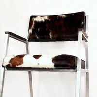 Vintage Mid Century Chair - Shaw Walker - Modern Seating - Upcycled - 1960s - Cowhide Leather - Brushed Aluminum