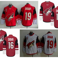 Arizona Coyotes Ice Hockey Jerseys 19 Shane Doan 16 Max Domi Team Color Red Alternate White Men Fashion Embroidery And Sewing Logo