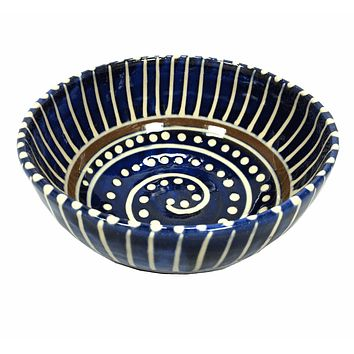 Earthworks Handmade Pottery - Soup Bowl (Bajan Blue)
