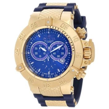 Invicta 11833 Men's Subaqua Noma III Chronograph Blue Dial Steel & Rubber Strap Dive Watch