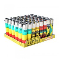 CLIPPER LIGHTER RASTA - 48 COUNT