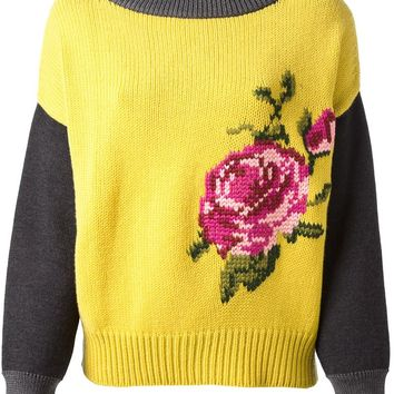 Isola Marras floral knit sweater
