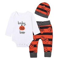 New Unisex Baby Clothes Baby Halloween Christmas Costume Set Baby Pumpkin Cute Clothing for Girls Boys