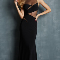 Sheer Panel Evening Gown by Night Moves