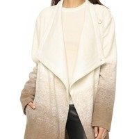Emerson Ombre Fuzzy Wool Coat