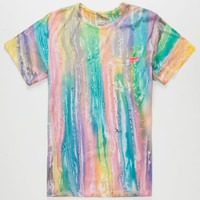 Mowgli Surf Ocean Wonder Mens Pocket Tee Rainbow  In Sizes
