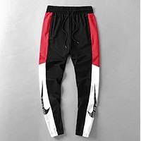 NIKE Trending Women Men Stylish Print Drawstring Sport Pants Trousers Sweatpants Red