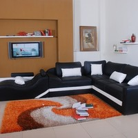 Slider Leather Sectional by Scene Furniture - Opulentitems.com