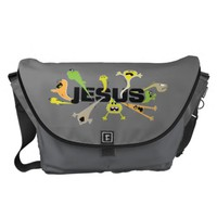Scary Jesus Courier Bag