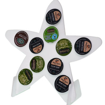 Starfish White 10 K Cup Dispenser Coffee Keurig Pod Holder