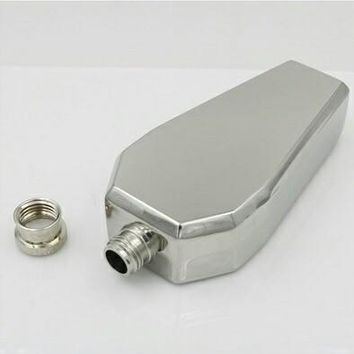Stainless Steel Coffin Drinking Flask