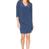 LAST TANGO Double Layer Rouched 3-in-1 Tunic Dress