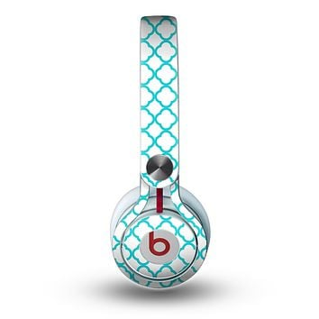 The Moracan Teal on White Skin for the Beats by Dre Mixr Headphones