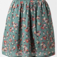 Special Moment Floral Skirt In Mint