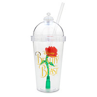 Enchanted Rose Light-Up Dome Tumbler with Straw - Beauty and the Beast | Disney Store