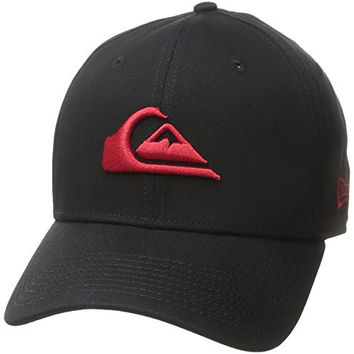 Quiksilver Men's Mountain and Wave Black Hat, Quik Red, Large/X-Large