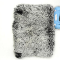 Handmade Warm Fur Case for iPad Mini: Lovely Seto Rabbit Skin with rhinestones around the camera hole (customized are welcome)
