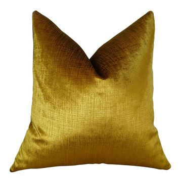 Plutus Lumiere Bronze Handmade Double Sided King Throw Pillow
