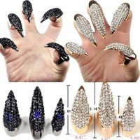 New Fashion Punk Crystal Edge Finger Ring Claws