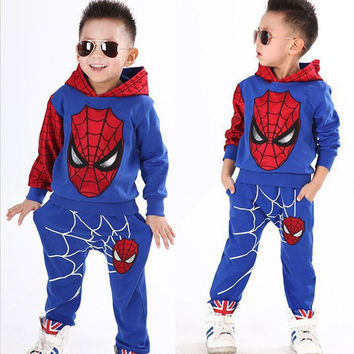 Fashion Character Print Baby Born Sets Baby Boy Pullover Clothes Set Baby Two Pieces Sets Hoodies Long Pants Boys Suits DP804628