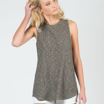 Two Tone Knitted Tank