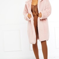 Dakota Fur Coat - Pink