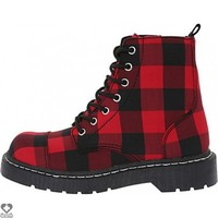 Buffallo [Red & Black] 7 Eye | COMBAT BOOT
