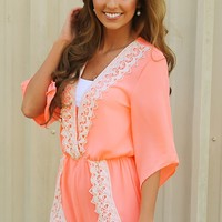 A Perfect Summer Romper: Bright Peach - Hope's Boutique