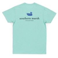 Authentic Tee in Washed Bimini Green by Southern Marsh - FINAL SALE
